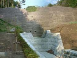 完成後の永の前入沢堰堤