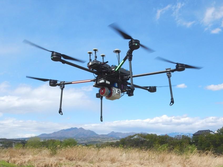 UAVレーザ測量システムを改良しました。